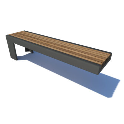 Rubix cantilevered bench seat