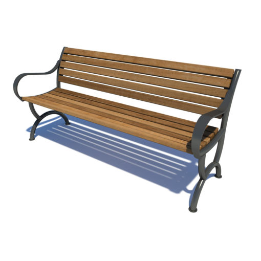 Streetscape bench seating